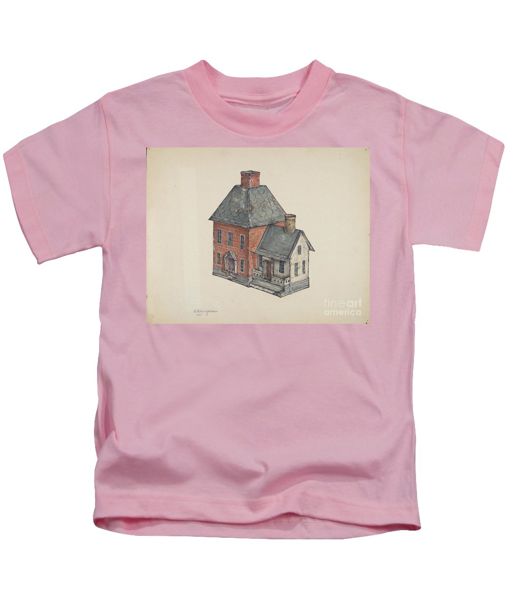 Kids T-Shirt featuring the painting Toy House by Nicholas Acampora