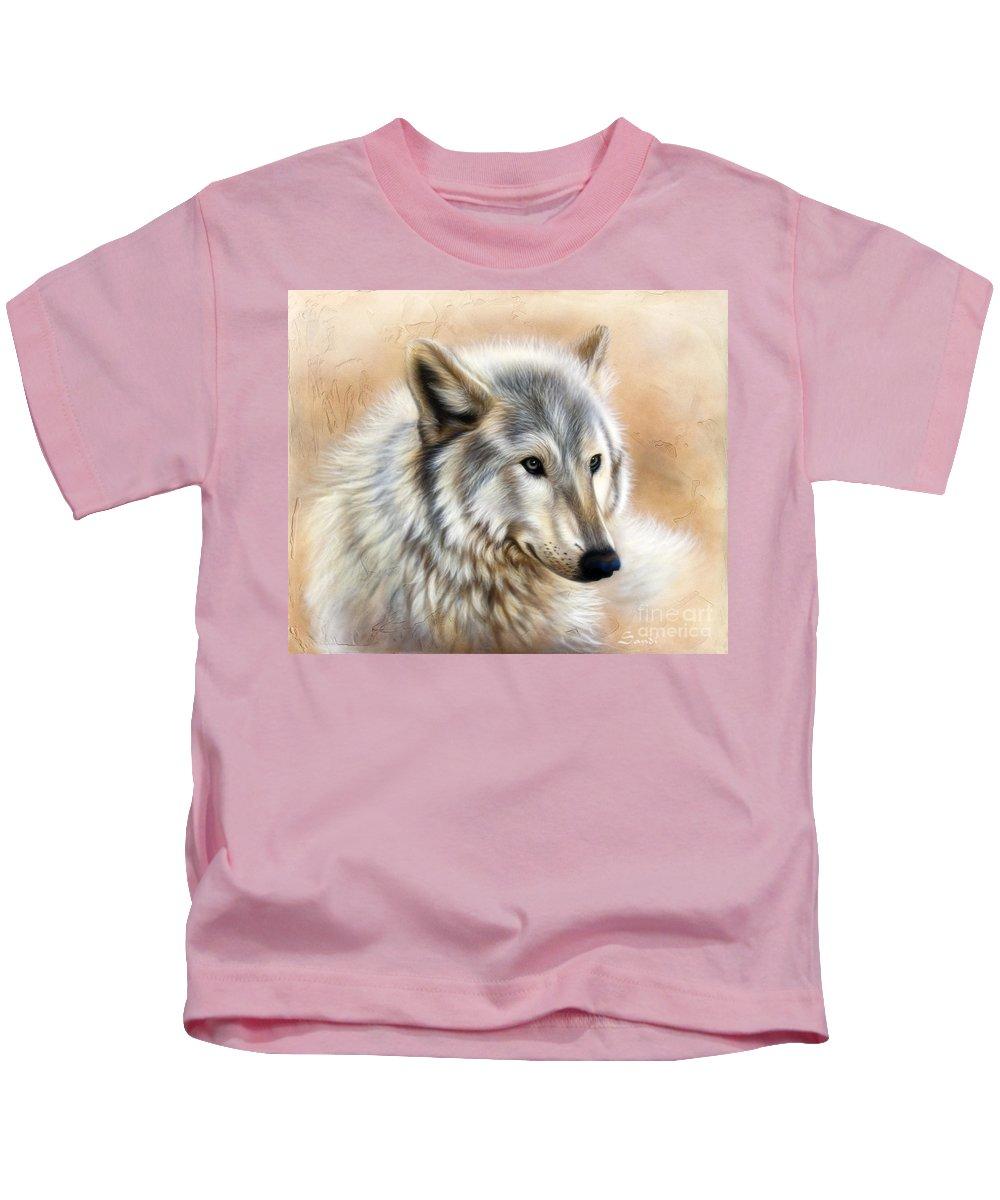 Acrylic Kids T-Shirt featuring the painting Trace by Sandi Baker