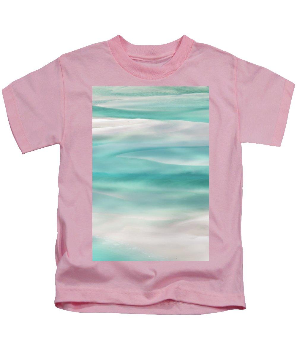 Whitehaven Beach Kids T-Shirt featuring the photograph Tranquil Turmoil by Az Jackson