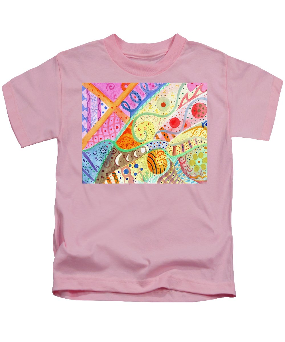 Elephant Kids T-Shirt featuring the painting Trotting Lightly by Helena Tiainen