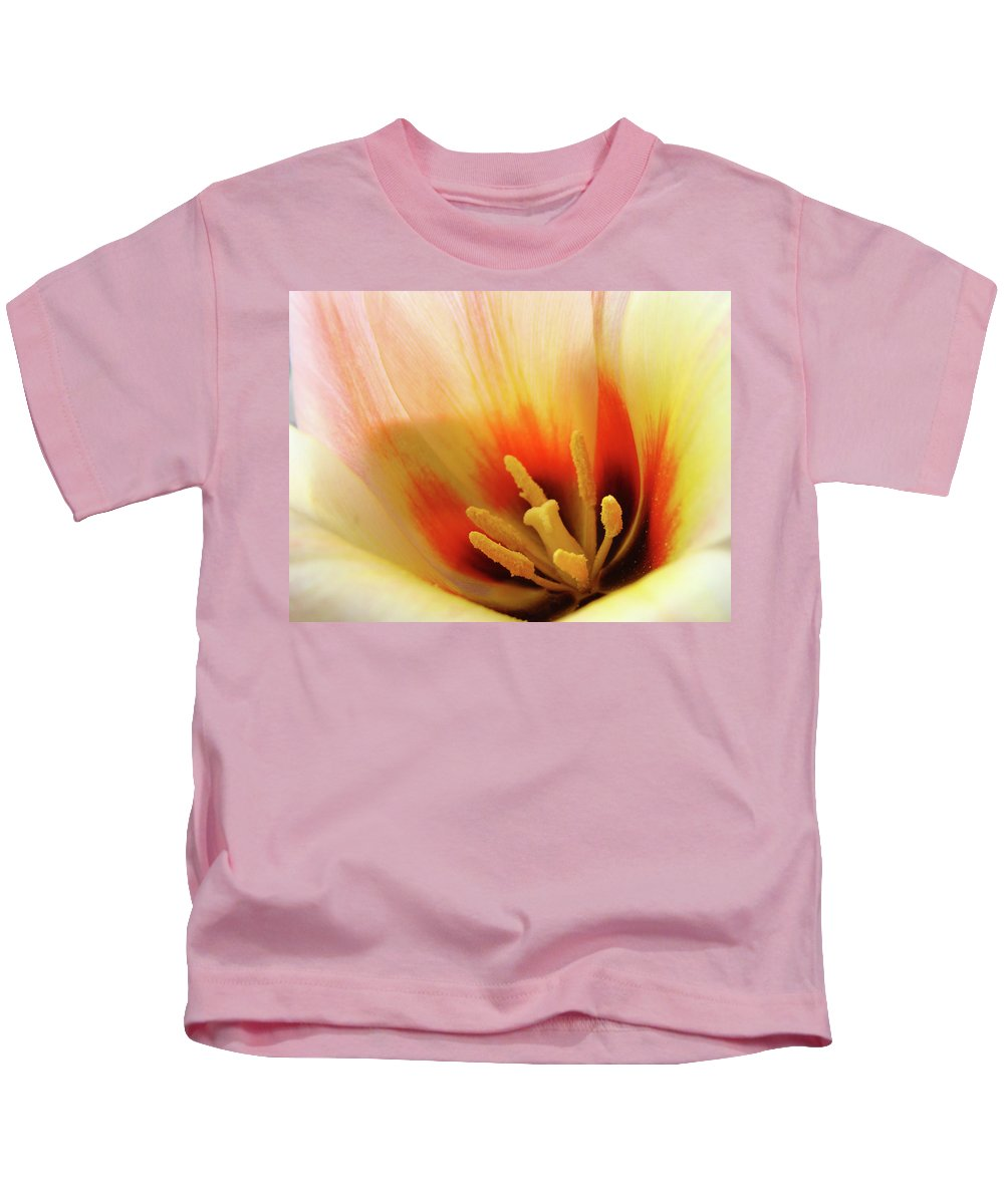 �tulips Artwork� Kids T-Shirt featuring the photograph Tulip Flower Artwork 31 Tulips Flowers Macro Spring Floral Art Prints by Baslee Troutman