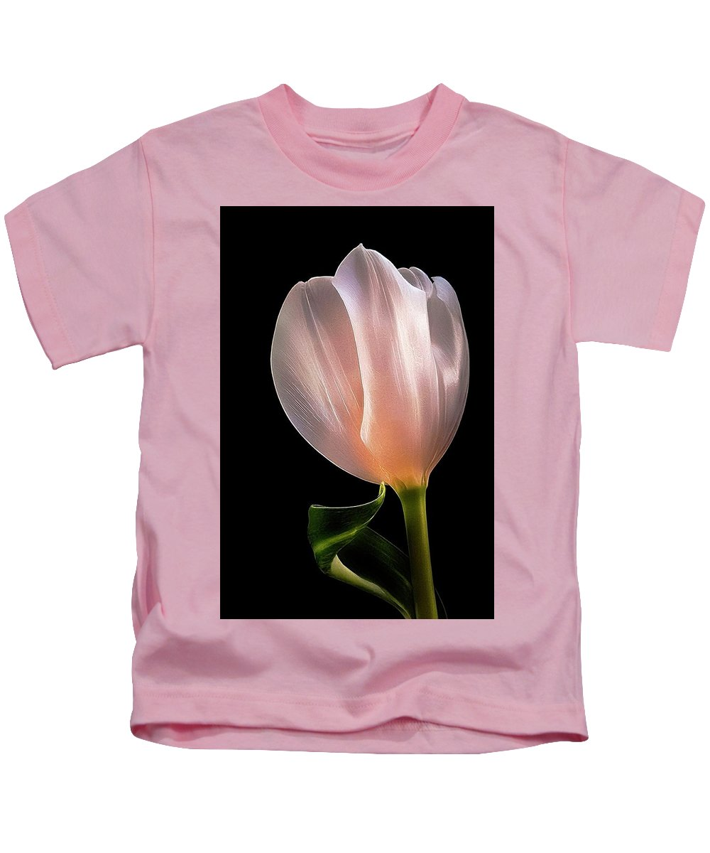 Tulip Kids T-Shirt featuring the photograph Tulip In Light by Phyllis Meinke