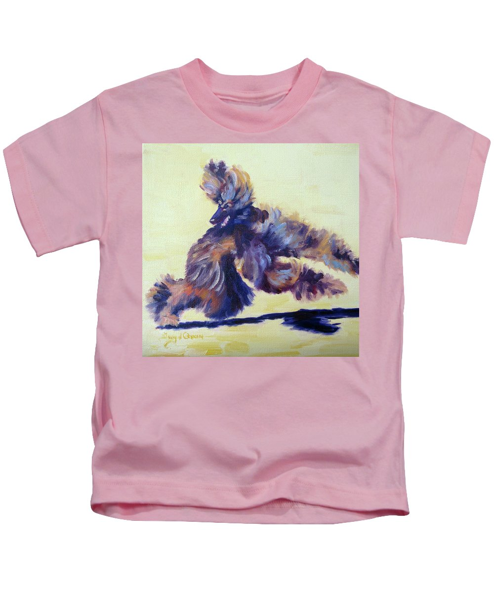 Art Kids T-Shirt featuring the painting Turning On A Dime by Terry Chacon