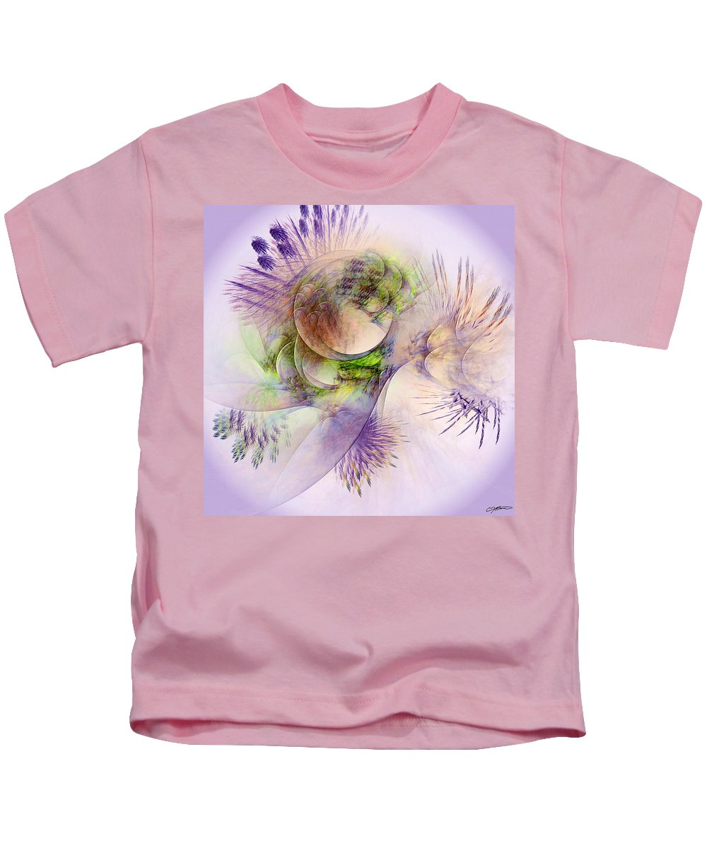 Abstract Kids T-Shirt featuring the digital art Venusian Microcosm by Casey Kotas