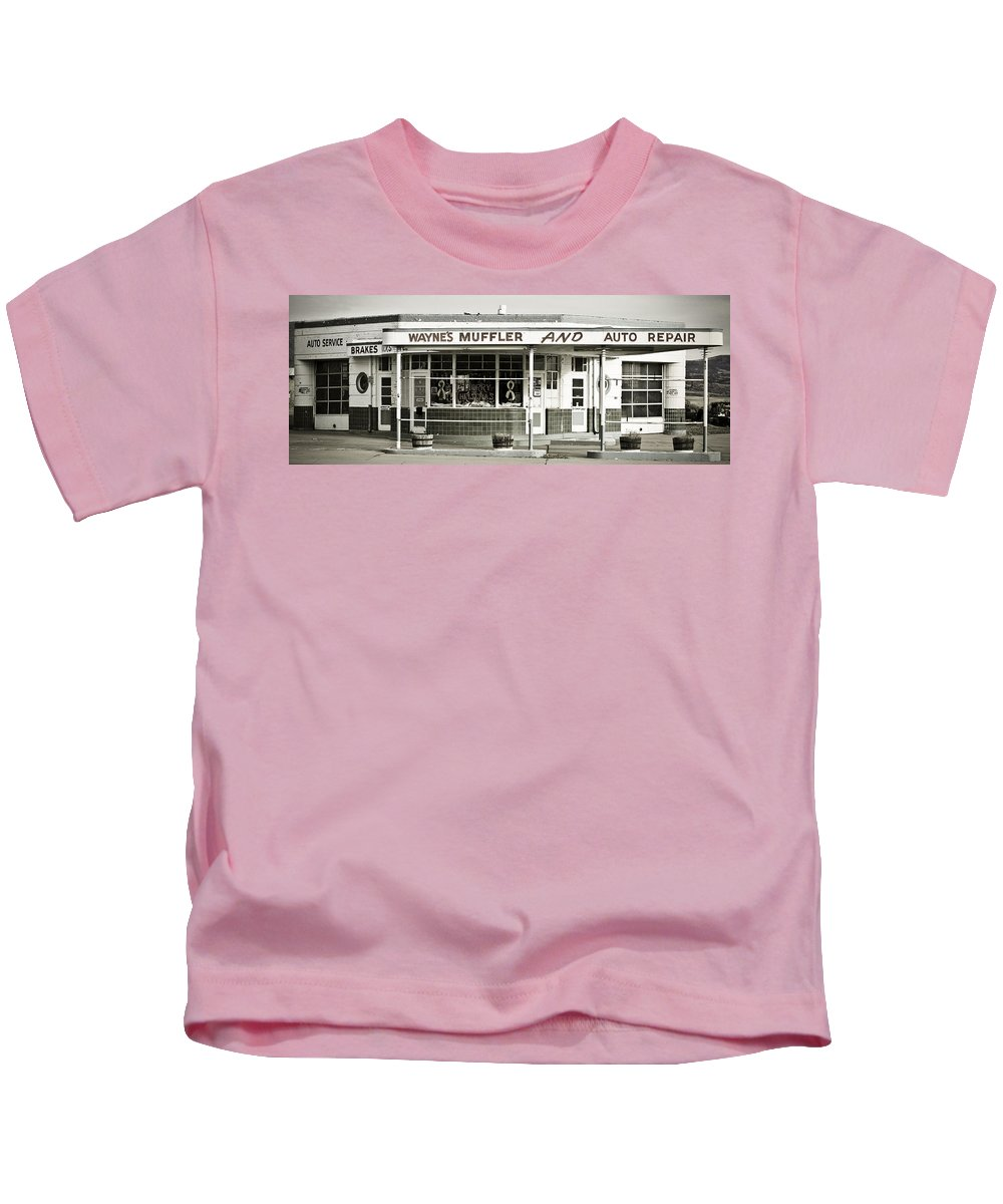 Filling Station Kids T-Shirt featuring the photograph Vintage Gas Station by Marilyn Hunt