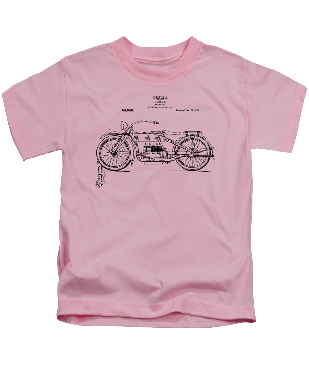 a8bb2395 Vintage Harley-davidson Motorcycle 1919 Patent Artwork Kids T-Shirt for Sale  by Nikki Smith
