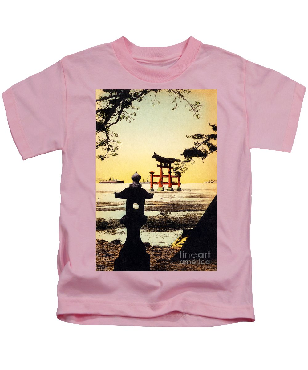 Archival Kids T-Shirt featuring the painting Vintage Japanese Art 23 by Hawaiian Legacy Archive - Printscapes