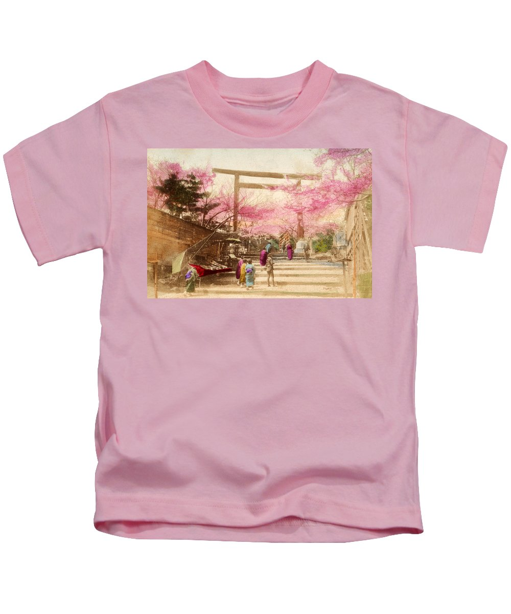 Archival Kids T-Shirt featuring the painting Vintage Japanese Art 25 by Hawaiian Legacy Archive - Printscapes