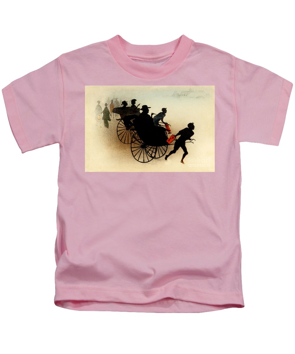 Archival Kids T-Shirt featuring the painting Vintage Japanese Art 29 by Hawaiian Legacy Archive - Printscapes