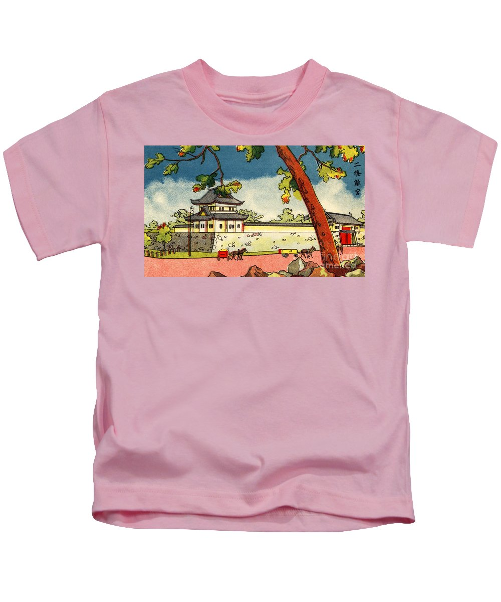 Archival Kids T-Shirt featuring the painting Vintage Japanese Art 3 by Hawaiian Legacy Archive - Printscapes