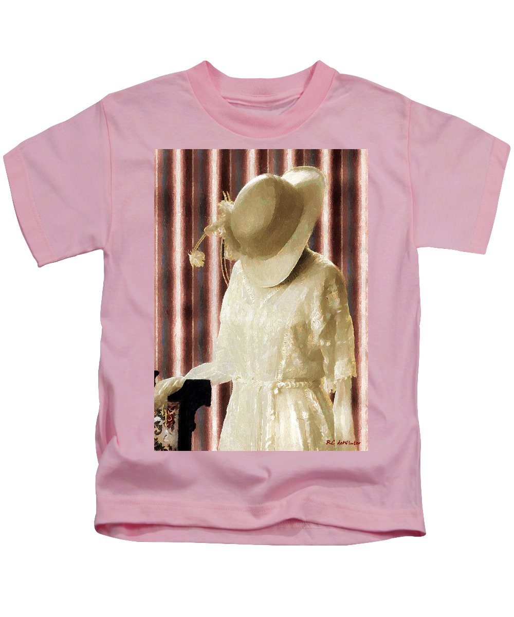 Antique Kids T-Shirt featuring the painting Waiting For Mr. Right by RC DeWinter