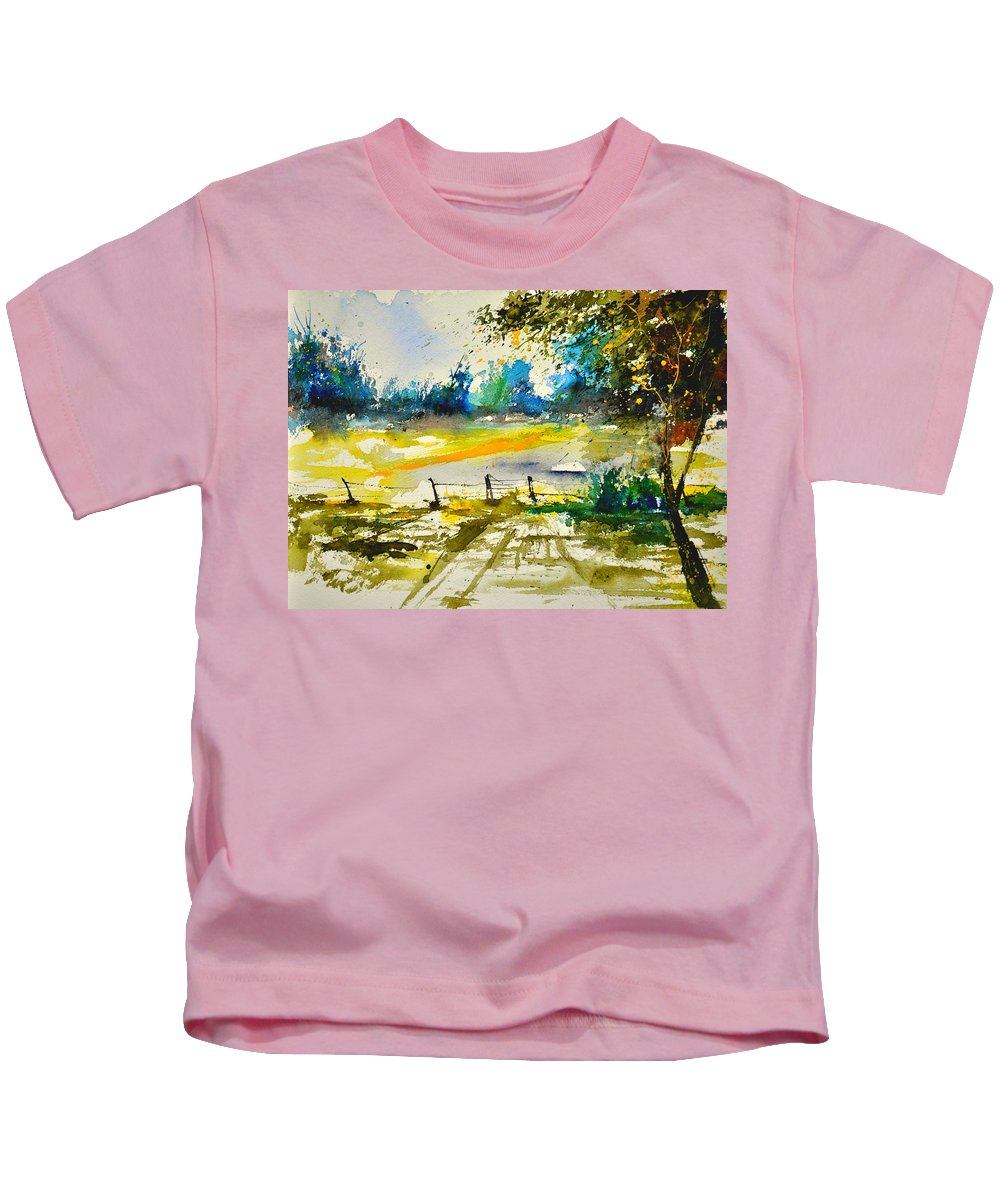 Landscape Kids T-Shirt featuring the painting Watercolor 112040 by Pol Ledent