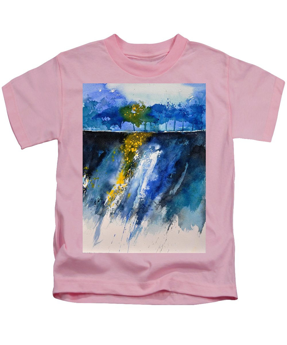 Abstract Kids T-Shirt featuring the painting Watercolor 119001 by Pol Ledent