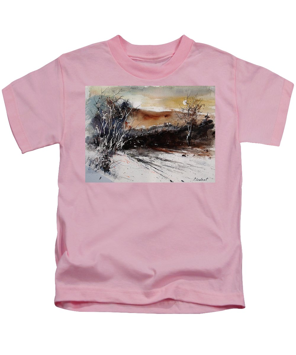 Tree Kids T-Shirt featuring the painting Watercolor 270908 by Pol Ledent
