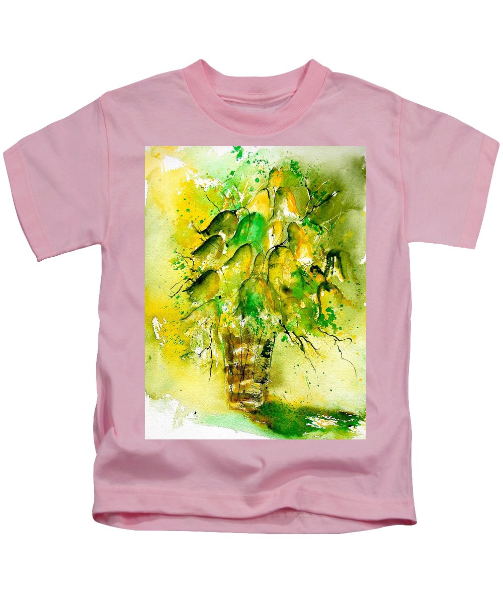 Flowers Kids T-Shirt featuring the painting Watercolor 90801 by Pol Ledent