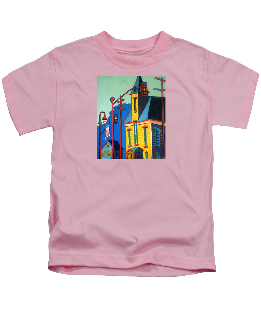 Landscape Kids T-Shirt featuring the painting What Once was Old is Now New Again CCA by Debra Bretton Robinson