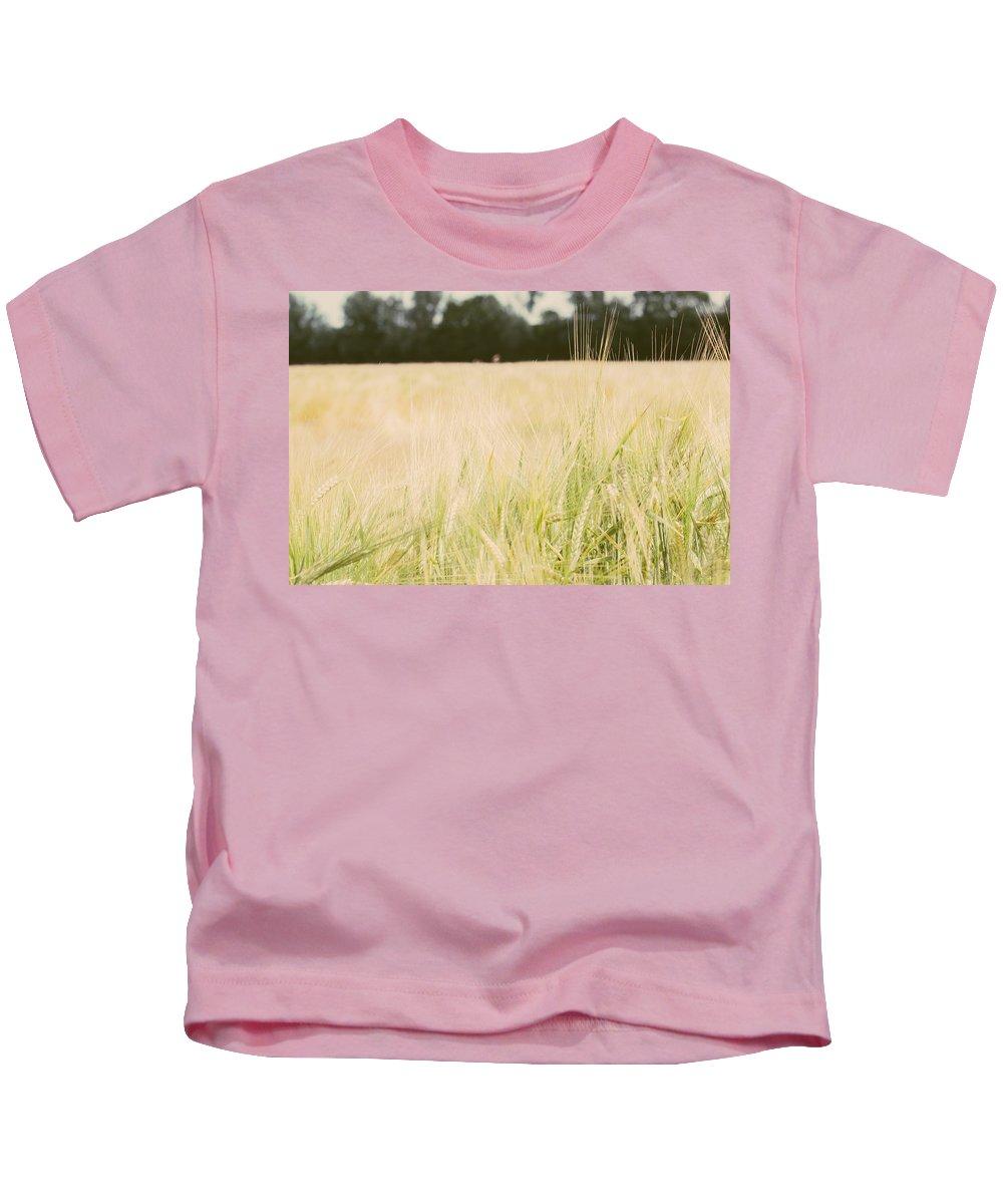 Wheat Kids T-Shirt featuring the photograph Wheat Field Closeup by Pati Photography