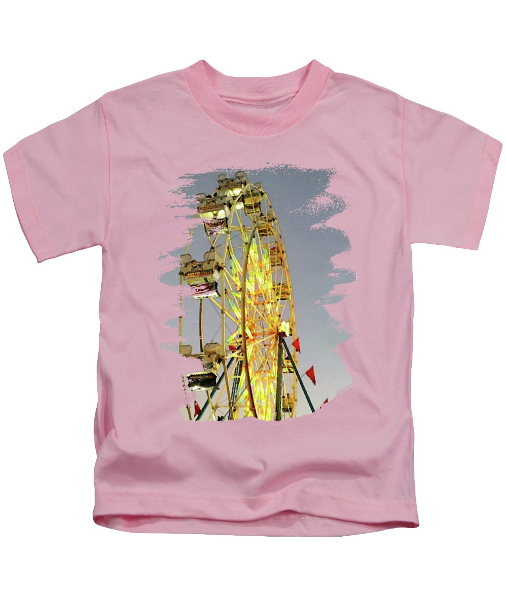 Wheel Of Fortune Kids T-Shirt featuring the digital art Wheel Of Fortune by Anita Faye