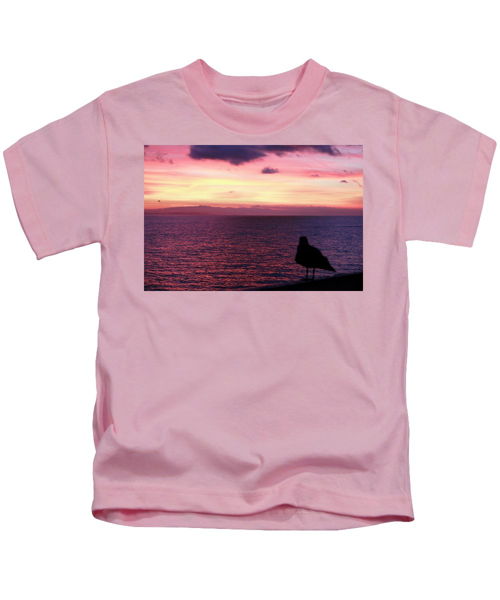 Sunset Kids T-Shirt featuring the photograph When The Deep Purple Falls by Pauline Darrow