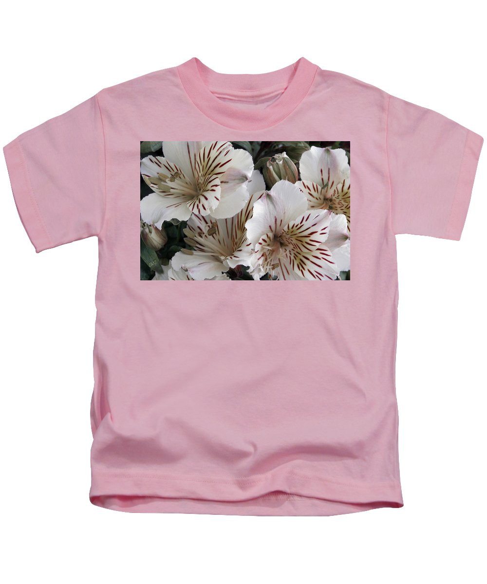 Peruvian Lily Kids T-Shirt featuring the photograph White Tiger Azalea by Ben and Raisa Gertsberg