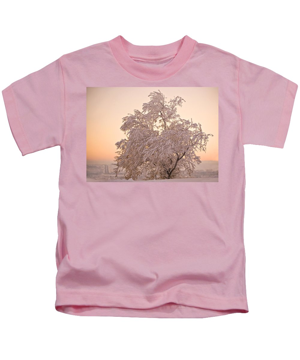 Winter Kids T-Shirt featuring the photograph Winter Sunset by Marilyn Hunt