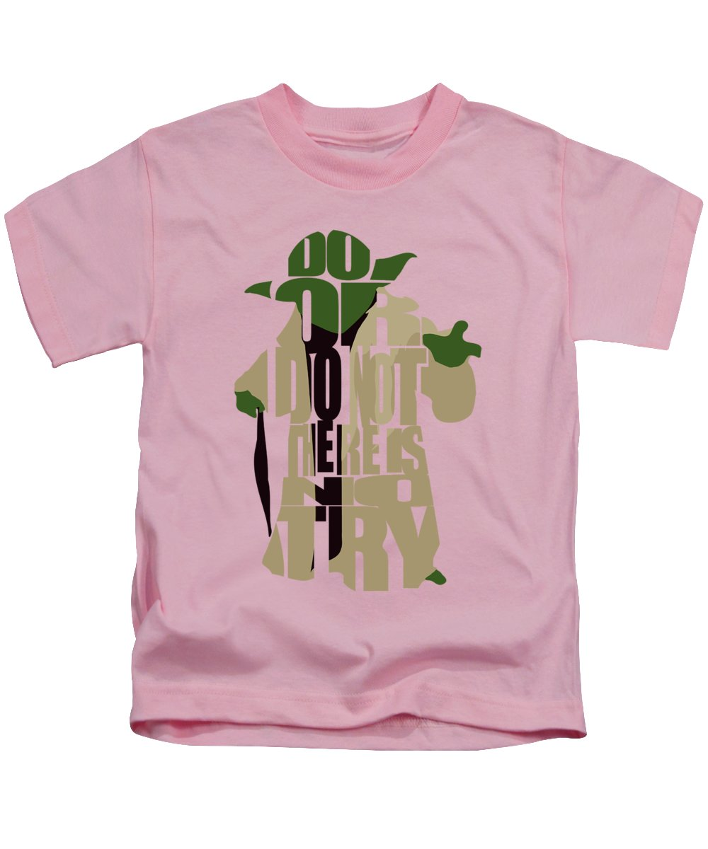 Yoda Kids T-Shirt featuring the digital art Yoda - Star Wars by Inspirowl Design