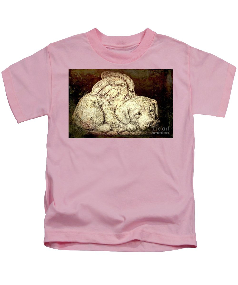 Altered Kids T-Shirt featuring the photograph All Dogs Are Angels by Joe Geraci