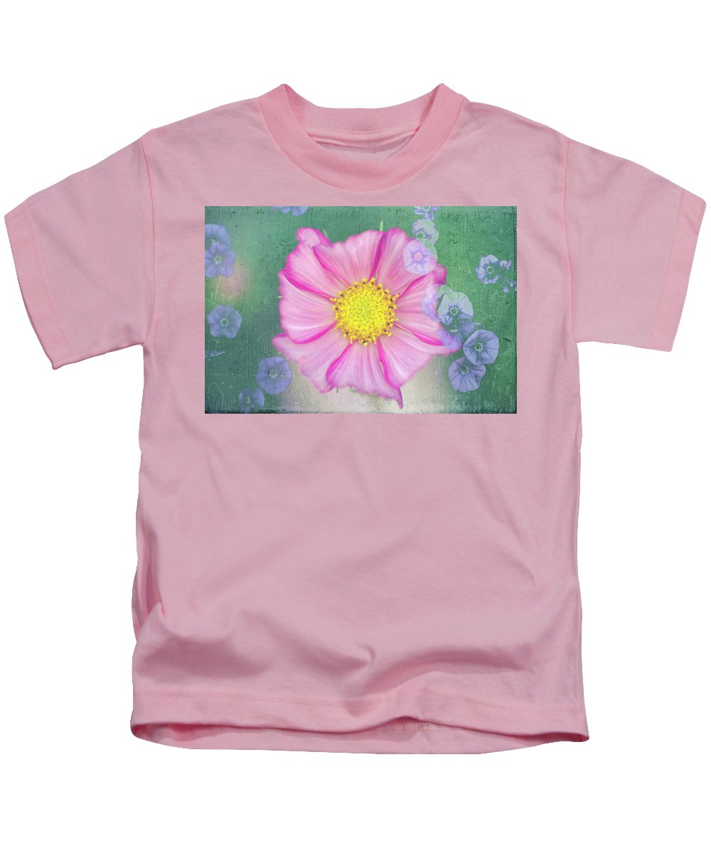 Flower Kids T-Shirt featuring the photograph Cosmos by Jo Stephen