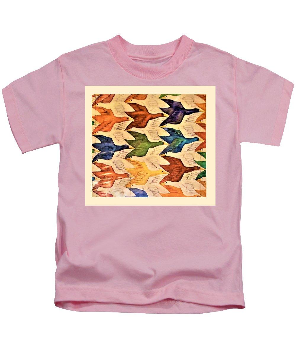 Maurits Cornelis Escher Kids T-Shirt featuring the photograph Escher 182 by Rob Hans