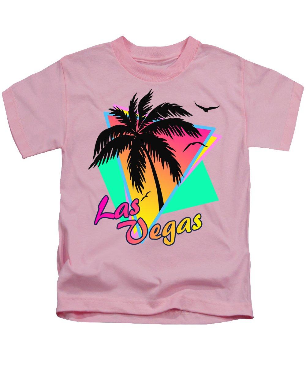 Sunset Kids T-Shirt featuring the digital art Las Vegas by Filip Hellman