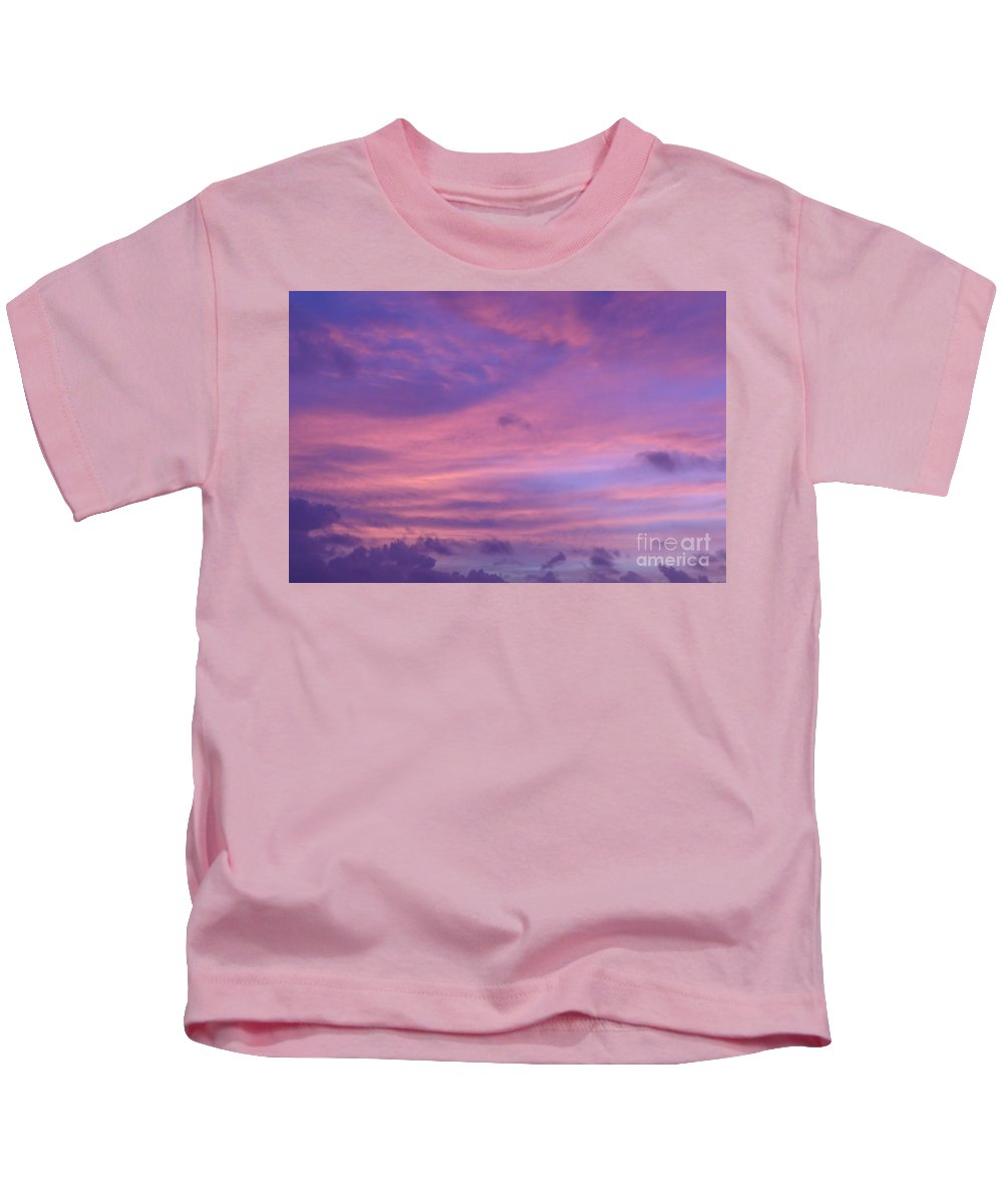 Purple Kids T-Shirt featuring the photograph Morning Purples by Margaret Brooks