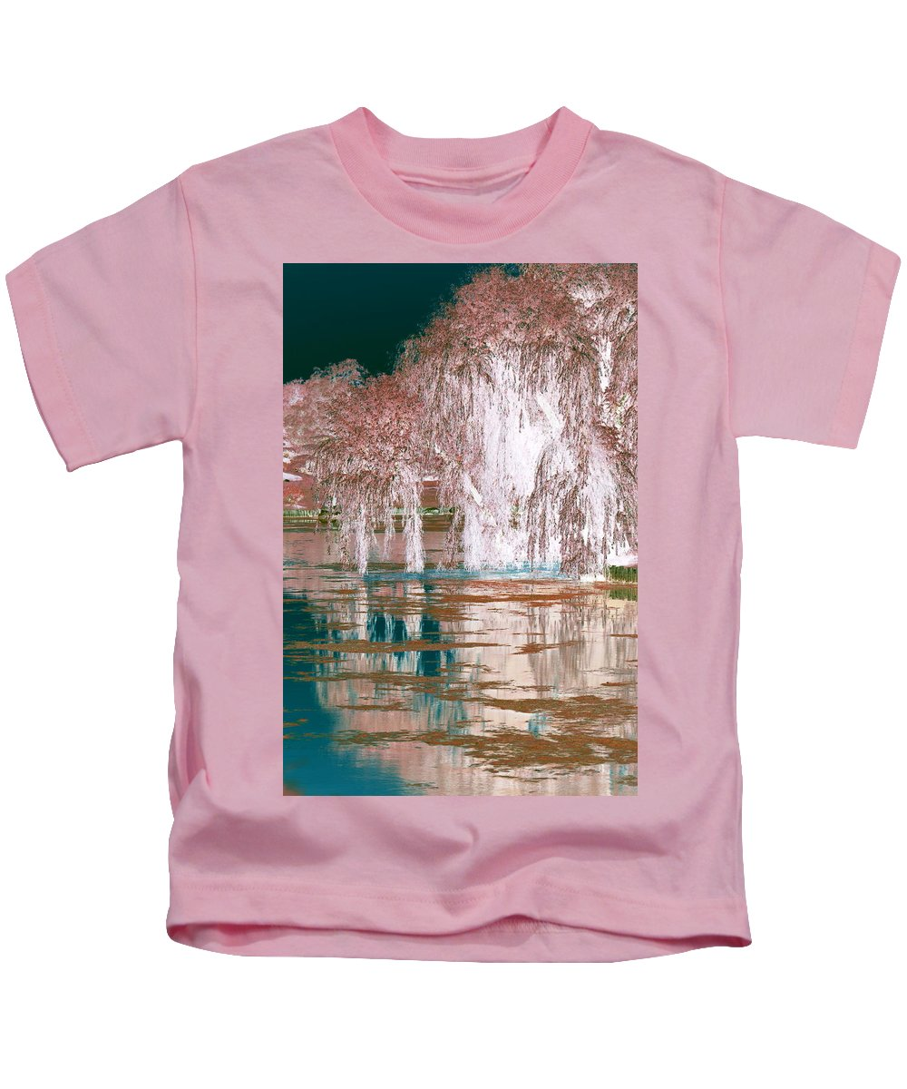 Willow Tree Kids T-Shirt featuring the photograph Mother Willow Altered Infrared by Colleen Cornelius