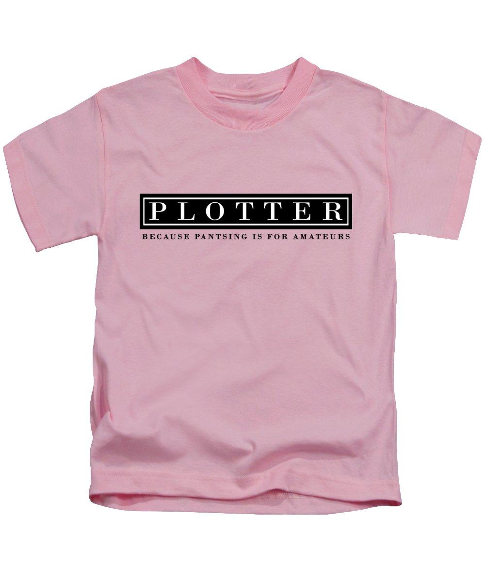 Kids T-Shirt featuring the digital art Plotter by Karen Thomas