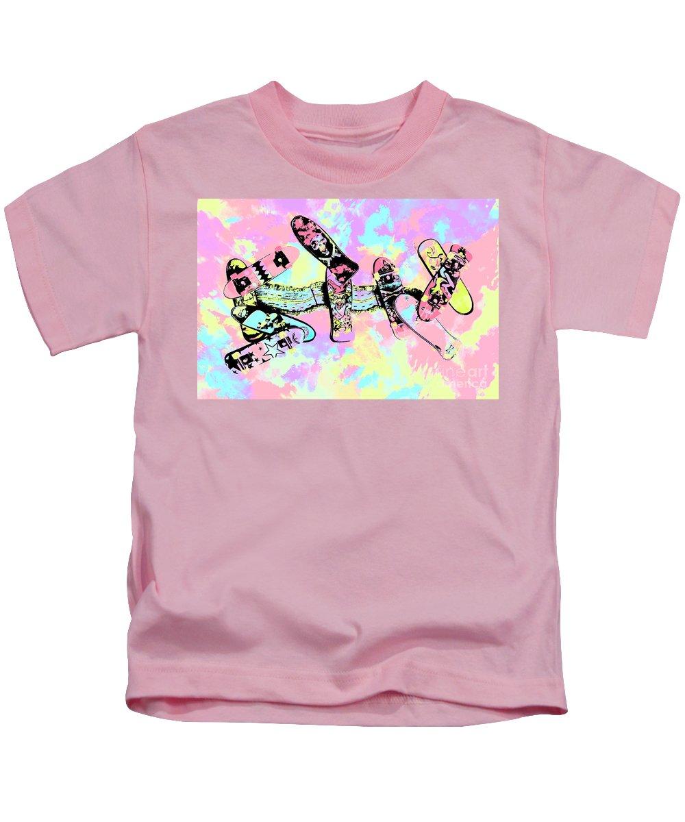 Pop Art Kids T-Shirt featuring the photograph Street Sk8 Pop Art by Jorgo Photography - Wall Art Gallery