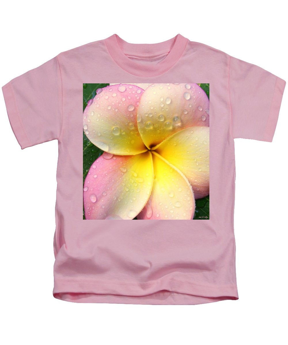 Frangapani Kids T-Shirt featuring the photograph Sun Shower by Holly Kempe