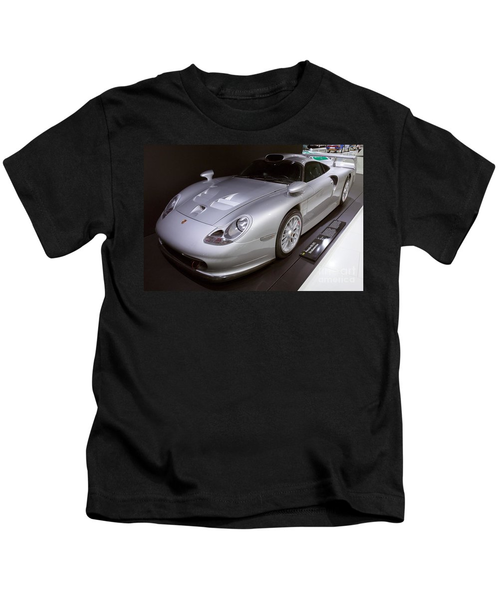 3d Kids T-Shirt featuring the photograph 1997 Porsche 911 Gt1 Street Version by Paul Fearn