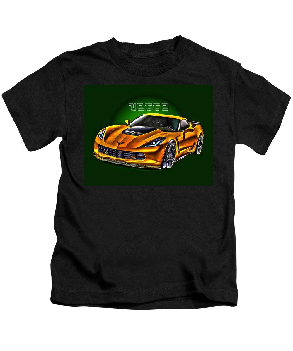 Corvette Kids T-Shirt featuring the photograph Chevrolet Corvette Z06 by Jim Markiewicz