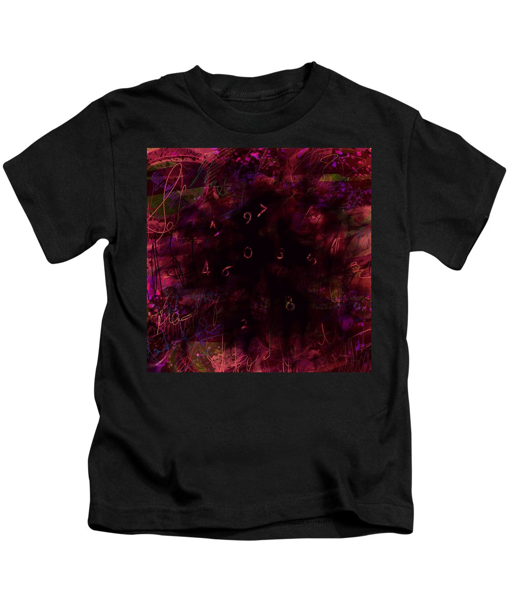 Abstract Kids T-Shirt featuring the digital art 0 Through 9 by Rachel Christine Nowicki