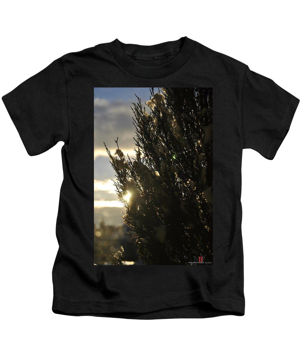 Michael Frank Jr Kids T-Shirt featuring the photograph 005 Peaking Winter Sunrise by Michael Frank Jr