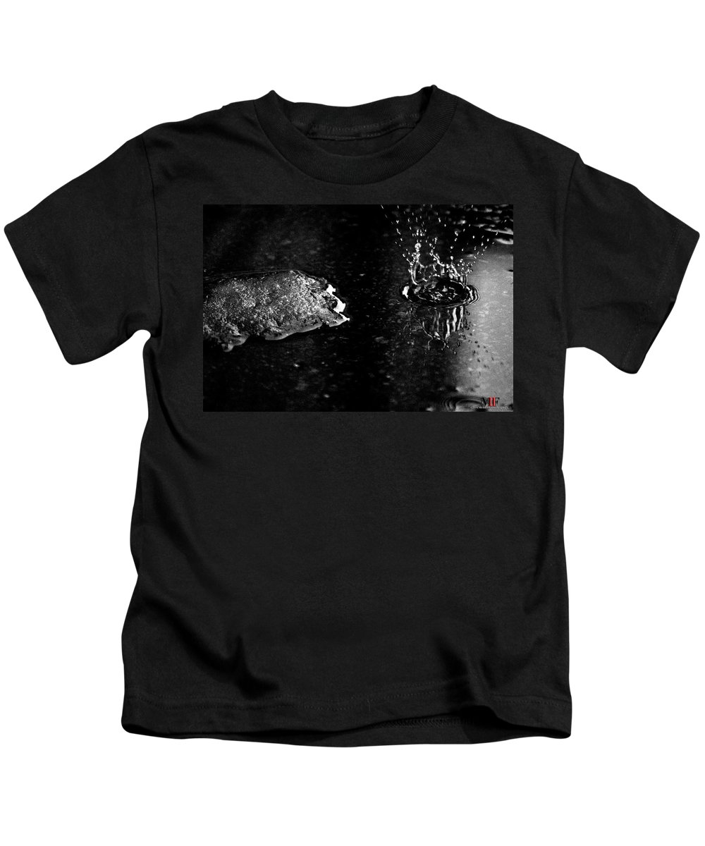 Michael Frank Jr Kids T-Shirt featuring the photograph 007 Melting Snow by Michael Frank Jr