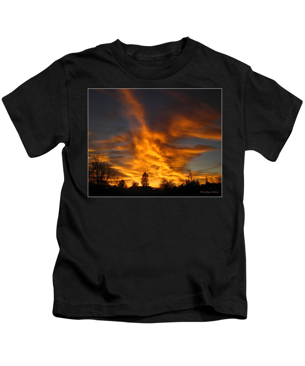 Sunset Kids T-Shirt featuring the photograph 02 05 11 Sunset Two by Joyce Dickens