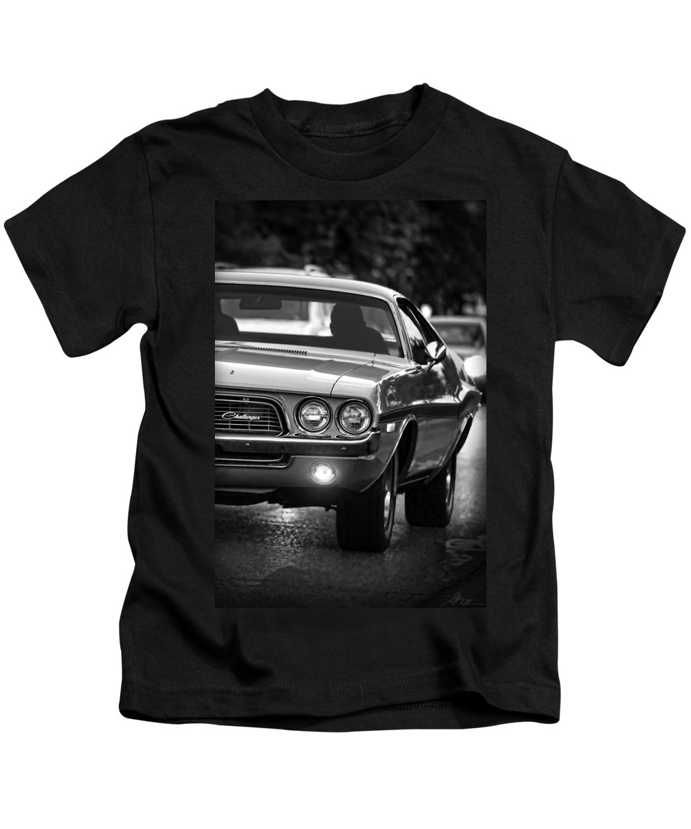 Kids T-Shirt featuring the photograph 1972 Dodge Challenger by Gordon Dean II