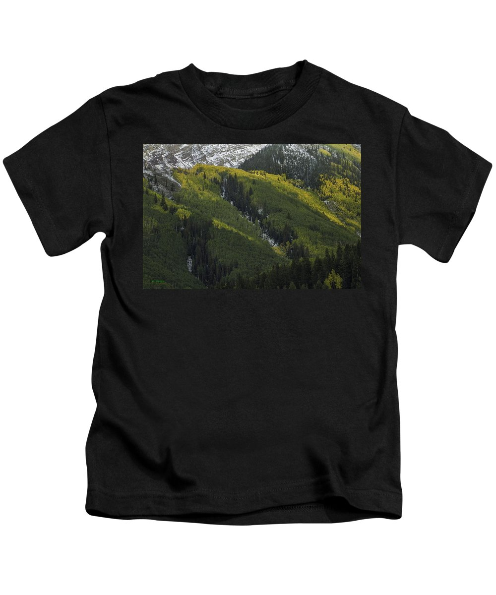 Landscape Kids T-Shirt featuring the photograph Autumn Angles by Bill Sherrell