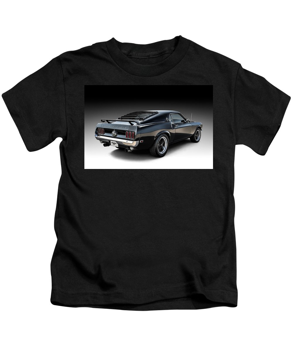 Classic Kids T-Shirt featuring the digital art Black Stallion by Douglas Pittman