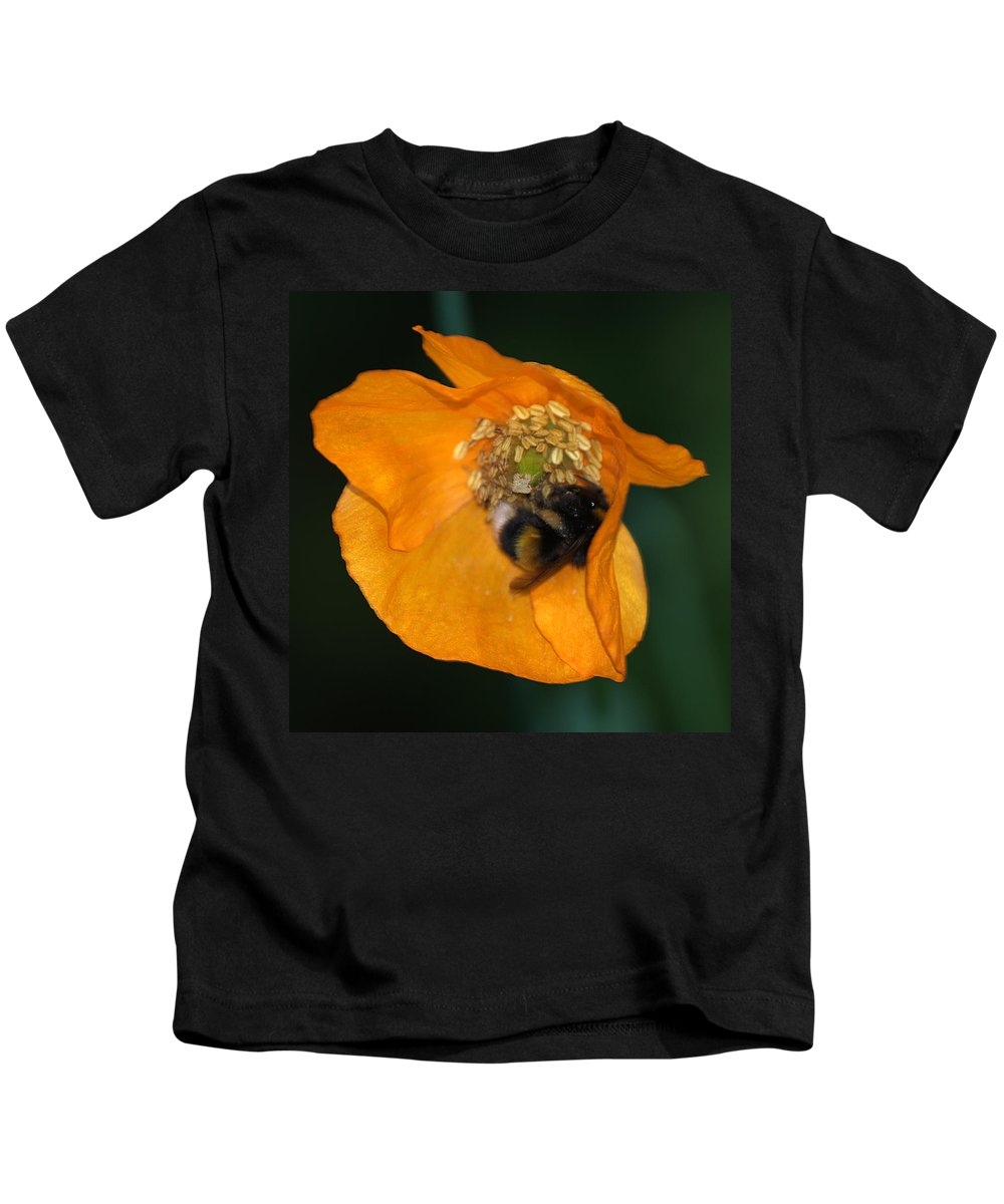 Bee Kids T-Shirt featuring the photograph Busy Bee by Chris Day