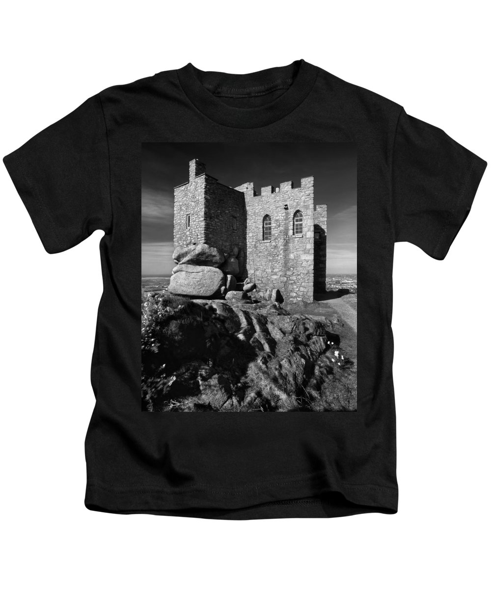 Cornwall Kids T-Shirt featuring the photograph Carn Brea Castle by Darren Galpin