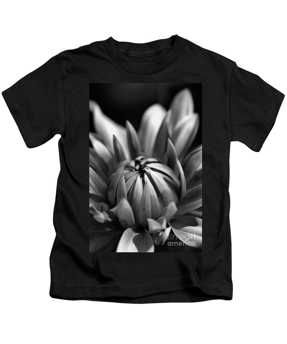 Joy Watson Kids T-Shirt featuring the photograph Dahlia Flower by Joy Watson