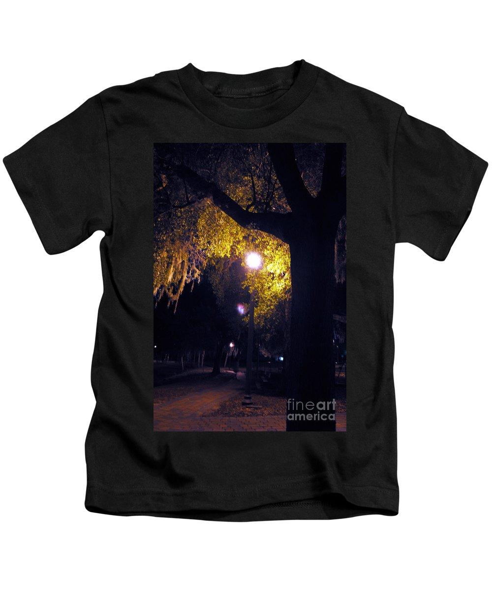 Davenport Kids T-Shirt featuring the photograph Davenport At Night by George D Gordon III