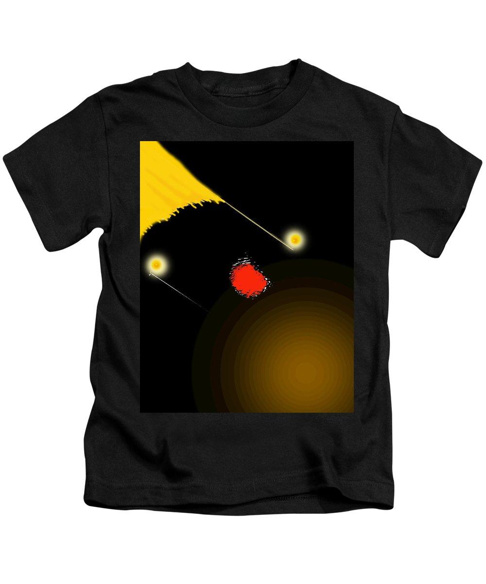 Abstract Kids T-Shirt featuring the digital art Deep by Ian MacDonald