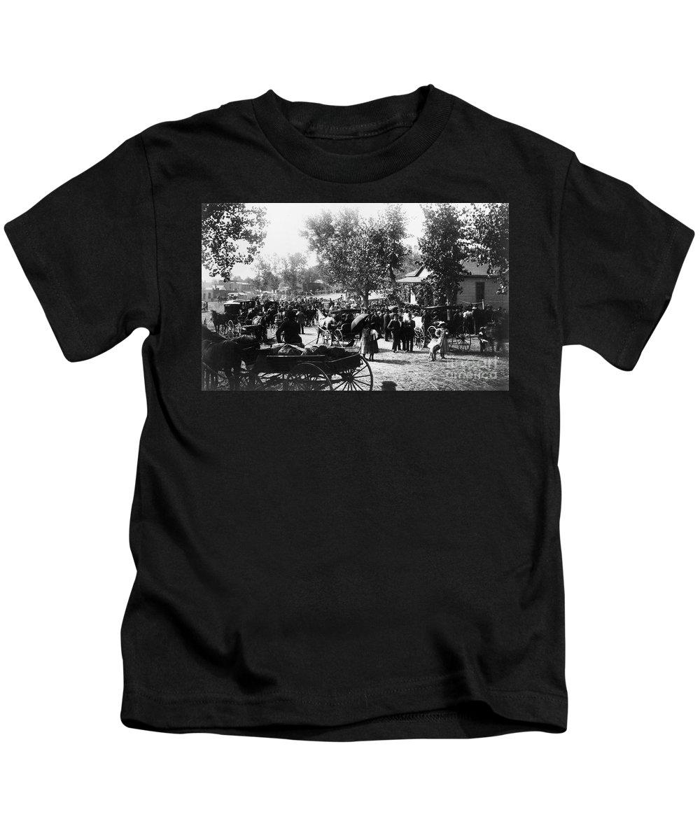 1895 Kids T-Shirt featuring the photograph Denver: Healer, 1895 by Granger